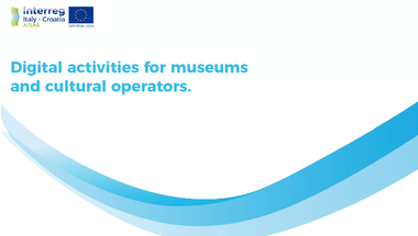 Best practice analysis: Digital activities for museums and cultural operators.