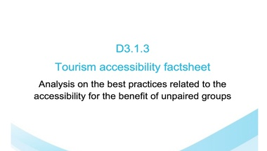Tourism accessibility factsheet